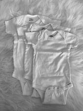 3 Gerber onesies. White. 18 Months.