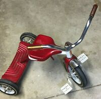 AMF Junior Vintage Kid's Double Step Red Tricycle Made in Olney Illinois