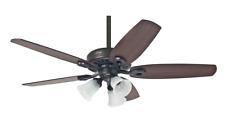 "3 light kit ceiling fan with pull chain 132 cm 52"" HUNTER BUILDER PLUS Bronze"