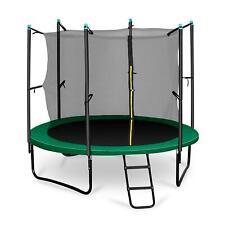 Trampoline 250cm Sport Klarfit Rocketstart <150kg + Couverture Protection Vert