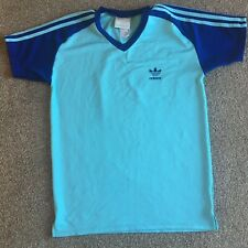 VINTAGE RETRO ADIDAS T-SHIRT SIZE MEDIUM BLUE
