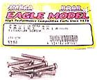 Integy RC Model TR318W Ultra Light Titanium Alloy 3x18mm STD Wood Screw 10PCS