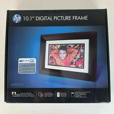"""HP DF1010V1 10.1"""" Widescreen Digital Picture Frame Espresso Brown New Sealed"""