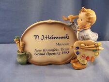 Goebel Hummel Figurine # 756 The Artist Display Plaque 1993 Hummel Museum SIGNED