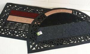 HEAVY Entrance Door Mat Rubber Back Non Slip Floor Rug Indoor Outdoor FEET WIPES