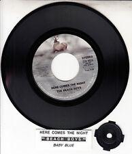 "THE BEACH BOYS  Here Comes The Night 7"" 45 rpm record + juke box title strip NEW"