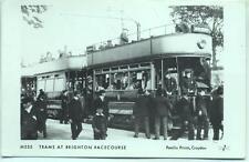 Pamlin repro photo postcard M555 Trams at Brighton Racecourse