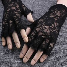 Goth Sexy Dressy Women Lady Lace Gloves Mittens Fingerless Sunscreen Gloves Sale