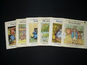 Lot of 6 PB Kids' Books by Beatrix Potter Peter Rabbit Tom Kitten Leapfrog