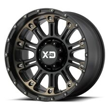 17 Inch Black Wheel Rims Jeep Wrangler JK Set of Four 4 Wheels 5x5 XD829 Hoss 2
