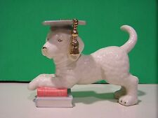 LENOX GRADUATION SCHOOL'S OUT PUPPY DOG sculpture NEW in BOX with COA June