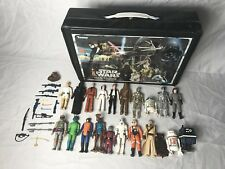 STAR WARS vintage lot FIRST 21 action figures 1977-79 set ORIGINAL weapons case