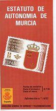 España Estatuto de Autonomía de Murcia año 1983 (DG-941)