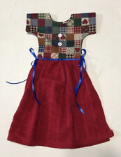 HEART GINGHAM RED DOOR DRESS KITCHEN HANDMADE TOWEL 100% COTTON