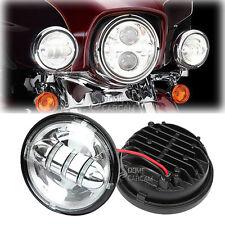 2x LED Passing Fog Lights For Harley Davidson Road King FLHR Custom Classic