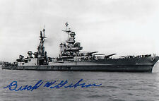 USS Indianapolis Buck Gibson WWII delivered A-Bomb/ shark attacks SIGNED PHOTO