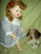 """Adorable signed, Ideal flirty SAUCY WALKER doll, hard plastic, 22"""" tall, c1951"""