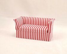 Sofa / Love-seat / Settee -  red stripe   1/12 scale dollhouse miniatures T3861