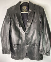 Mundo Leather Jacket Black Mens 42 Chest Western Costa Rica see measurements