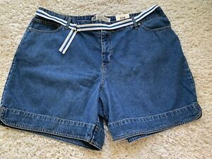 NWT Faded Glory Med Stone Jean Shorts 22W 22 W A3