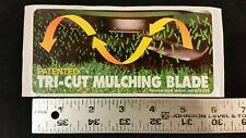 Genuine lawn boy 1980s mower deck tri-cut mulching blade purchase sales decal.