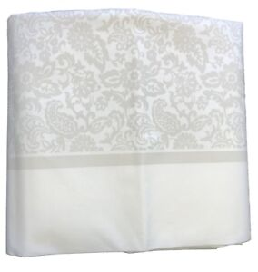 Cream Floral Luxury Soft Thick Fabric Large Rectangle Wedding Table Cover Cloth