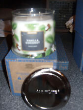 Partylite Vanilla Coconut Signature 3-wick Jar Candle Brand New Fall 2016
