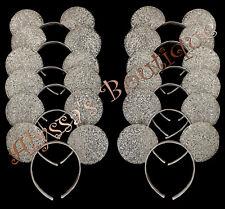Minnie Mickey Mouse Ears Headbands 24 pc Shiny SILVER Birthday Party Costume DIY