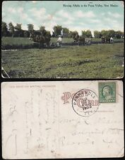Mowing Alfalfa in the Pecos Valley New Mexico 1909 Workers  Horse drawn mowers