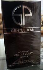 GENTLE MAN Cologne by Secret Plus VERSION OF GUILTY 3.4 OZ EDP SPRAY NEW