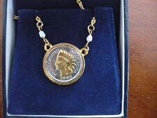 1903 Indian Princes Head Penny Pendant American Historic Society NOS W/Case