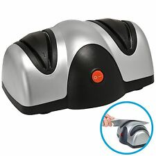 Electric Knife Sharpener Honer 2 Stage Grinder Chef Razor Sharp Kitchen Knives