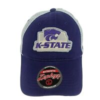 Kansas State K-State Wildcats NCAA Sport Snapback Mesh Zephyr Cap Hat NWT Purple