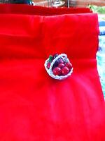 neuf !par 10m x0,75 beau tissu rouge genre  coton   reps ,vintage=  a saisir!!!