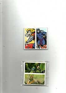 2 DIF  FULL SET DOUBLE CARDS BROOKE BOND ISSUE TURTLES & NAT NEIGHBOURS EX/MINT