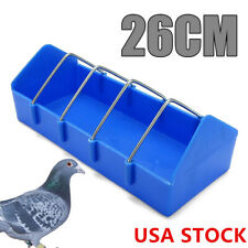 Pigeon Feeder Water Food Feeder Birds Hanging Feeder Drinker Cage Trough Cup Us