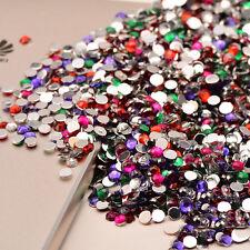 2000pcs Crystal Rhinestones DIY Decoration 3D Acrylic Nail Art Tips Gems