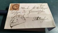 "Bayern 6 Kreuzer-Brief (4II2)/gMR 6 ""Aidenbach"" 1860"
