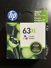 HP 63XL Color Original Ink Cartridge In Box Double Print Capacity Exp. 10/2020