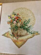 Vintage Hallmark stationery box set -  floral print