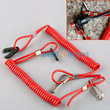 Marine Boat Outboard Engine Motor Kill Stop Switch Tether Cord Lanyard Red