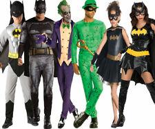 Kids Adults Batman Deluxe Dark Knight DC Comic Mens Joker Fancy Dress Costume
