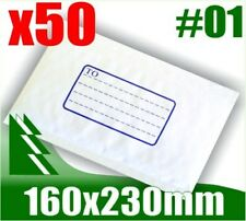 #01 x 50 Bubble Mailers 160x230mm Padded Bag Envelope #1 01