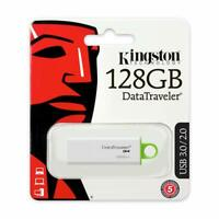 PEN DRIVE Kingston DTIG4/128 GB DataTraveler USB 3.0 G4 BIANCO/VERDE