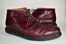 Cole Haan Lunargrand Chukka Boots Burgundy Leather Men Ankle Dress Shoes Sz 11 M