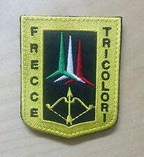 FRECCE TRICOLORI con VELCRO cucito - PATCH TOPPA ricamata 4cm x 5,1 cm