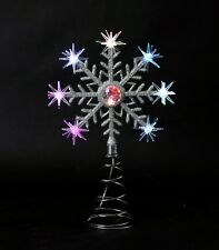 8LED SNOWFLAKE BATTERY OPERATED MULTI-EFFECT COLOR CHANGING XMAS TREE TOPPER