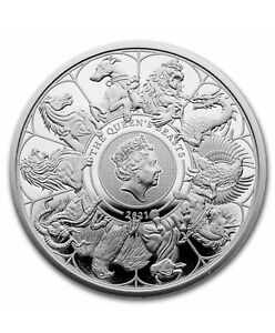 In Stock - 2021 GB 1 oz Silver Queen's Beasts Collector Proof (w/Box & COA)