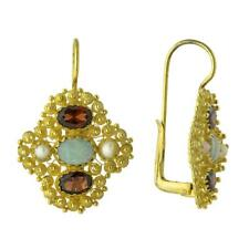 Duchess Of Newcastle Opal, Garnet and Pearl Earrings: Museum of Jewelry