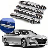 For 2018 2019 2020 Honda Accord Chrome Door Handle Covers With Smartkey Hole